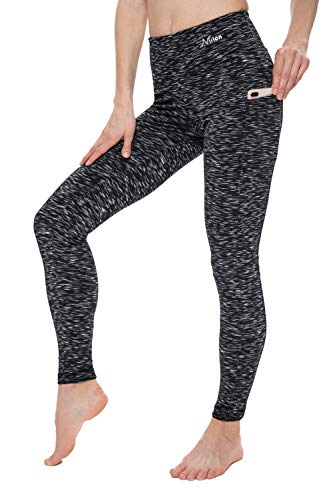 NIRLON Leggings with Pockets High Waisted Workout Yoga Pants for Women Plus Size (2XL, SD Black)