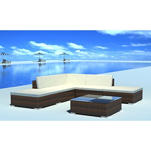 Nishore 15 STK. Rattan Lounge Set Gartenmöbel Loungemöbel Loungeset Loungegruppe - 8