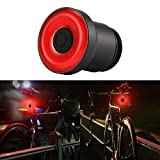 Konesky Luce Posteriore per Bicicletta Luce Posteriore per Bicicletta Ricaricabile USB Interruttore Automatico Luce Stroboscopica di Avvertimento di Sicurezza a LED Bici da Strada