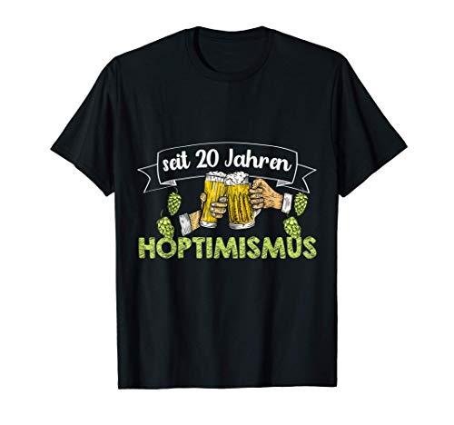 Hopfen Beer Buddy Bierglas 20 Jahre Geburtstag Mann lustig T-Shirt