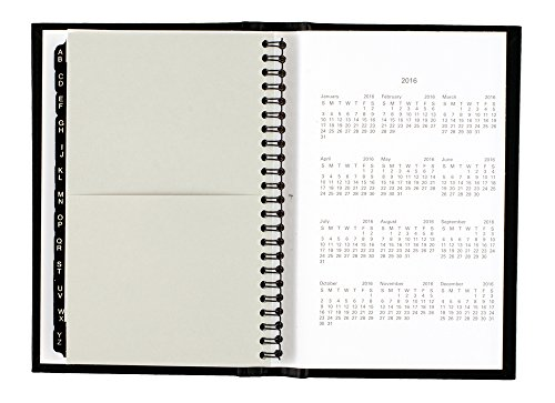 DayMinder Premiere Weekly Appointment Book 2015, Wirebound, Hard Cover, 4.88 x 7.88 Inch Page Size, Black (G210H-00) Photo #3