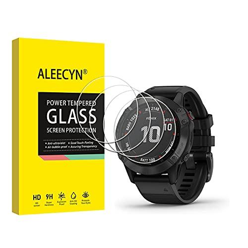 Aleecyn 4 Unidades Protector de Pantalla para Garmin Fenix 6X Pro/Sapphire Editions/Solar Edition 51mm / Huawei Watch GT 2 Pro 46mm, Anti Arañazos,Protector de Pantalla Garmin Fenix 6X Pro