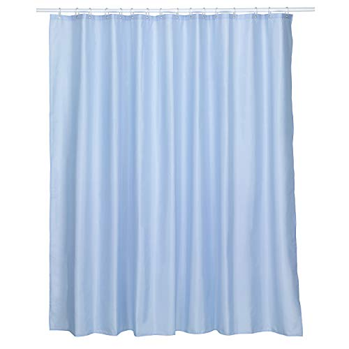Kela 24056 Laguna Duschvorhang, Blickdicht, Polyester, 240 x 200 cm, himmelblau