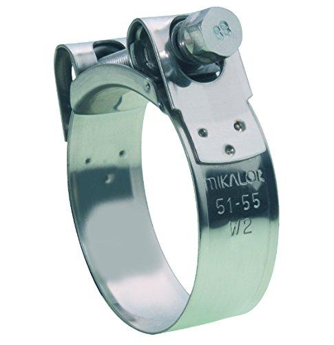 Mikalor W2 Supra Collier de serrage en T en acier inoxydable ultra résistant 85-91 mm