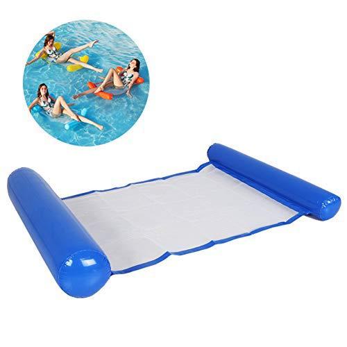 Opblaasbaar drijvend bed Waterhangmat Drijvende stoel Waterbank Strandmat Drijvende rij voor zwembad Strand Zee Zomerfeest Zwembad