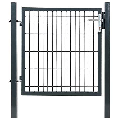 VERDELOOK Cancello per recinzioni in Ferro 100x100 cm, comprensivo di Pali di Sostegno Quadrati 60x60 mm