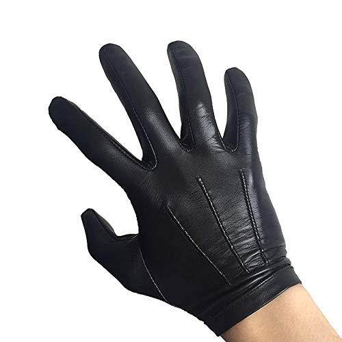 Raelf Ziegenlederhandschuhe Männer Fahren dünne Single-Layer-Touchscreen-Lederhandschuh Echtes Leder Mode Driving Chauffeur Handschuhe senden Vater Freund Geburtstagsgeschenk