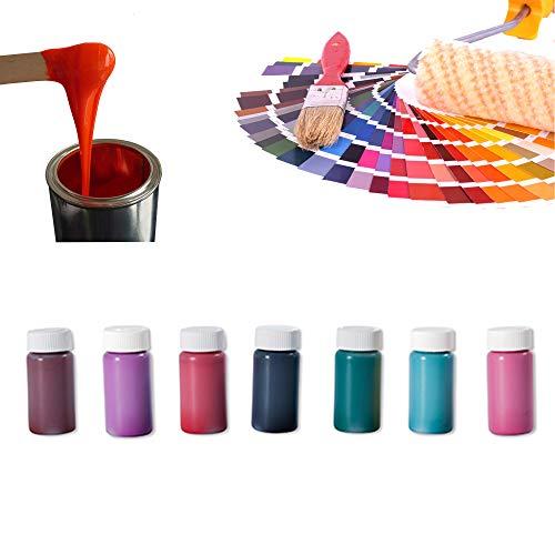 Epoxidharz Farbe Set 7 x 20g | Deckende Farbpaste für Giessharz | Einfärben von Epoxid-Harz | Rivertable, Bastelarbeiten, Modellbau | BM-FPN-SET-02 Sonderfarben