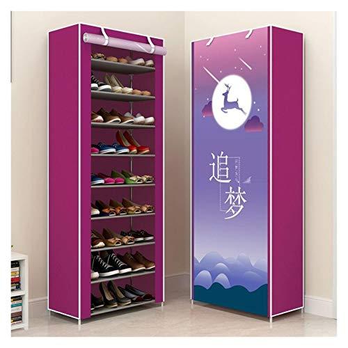 Zapatero Simple No Tejido Multicapa Zapatero de Zapatos Cubierta Armarios increíble de Zapatos de Almacenamiento de Soporte Muebles Ahorro de Espacio Zapatos Fabricante Organizador Rack