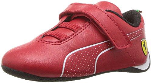 PUMA Unisex Ferrari Future Cat Ultra Velcro Kids Sneaker, Rosso Corsa White, 2 M US Little