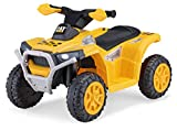 Kid Trax CAT Toddler Quad Ride On Toy, 6 Volt Battery, 1.5-3 Years Old, Max Weight 44 lbs, Single Seater, Yellow (KT1575AZ)