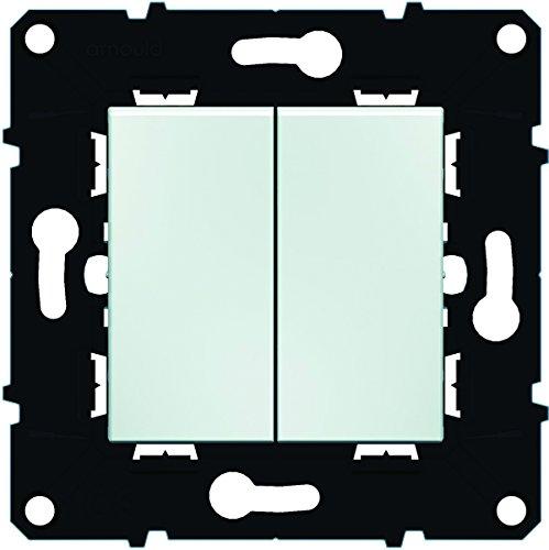 Arnould ARN51001 Interrupteur Va-et-Vient double 10 A Espace Evolution Enjoliveur Blanc