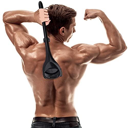 Afeitadora de espalda para hombre, afeitadora manual de espalda con mango ergonómico, para el pelo de la espalda sin dolor
