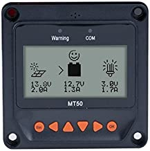 EPEVER Remote Meter MT-50 for MPPT Solar Charge Controller 10A/20A/30A/40A LCD Display Monitoring Reading Datas of Solar Panel Battery Charging Regulator System