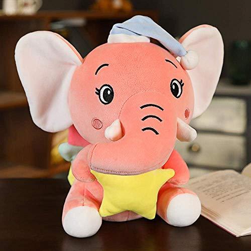 FGBV R 1 Stück 22-40 cm 25 cm Nette Plüschspielzeug Elefant trägt einen Hut Baby, das weiche gefüllte Plüschspielzeug for das Babyn-Geschenk-40cm_red Manmiao