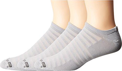 Drymax Sport Hyper Thin Running No Show 3-Pack Grey LG (Men's Shoe 8.5-10.5, Women's Shoe 10-12)