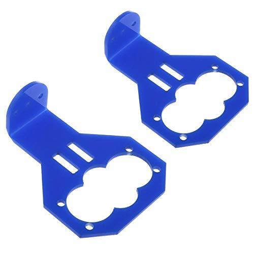 E-outstanding 2 Stück blaue Cartoon-Ultraschall-Sensor-Halterung für HC-SR04 Smart Car Arduino