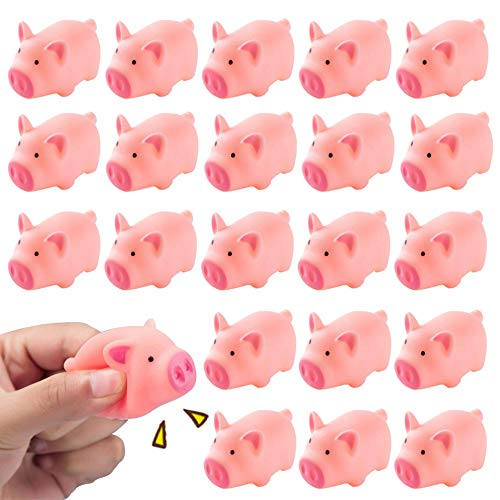 HAKACC Rubber Pig Baby Bath Toy for Kid 20 PCS