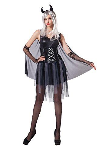 Bristol Novelty AC208 Costume di Halloween da Diavolo Nero per Donna