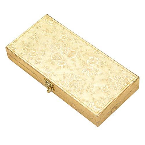 UPKOCH Geschirrkiste Wiederverwendbare Besteckgeschenkkiste ohne Besteck für Freunde Familienbedarf (Vierteilige Goldkiste Golden)