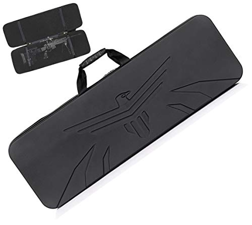 [Impermeabile e facile da pulire]: l'avanzata custodia per fucile tattico, realizzata in materiale ABS di alta qualità, con una buona funzione impermeabile e facile da pulire, è la scelta ideale per contenere le armi [Antiurto e non deformazione]: il...