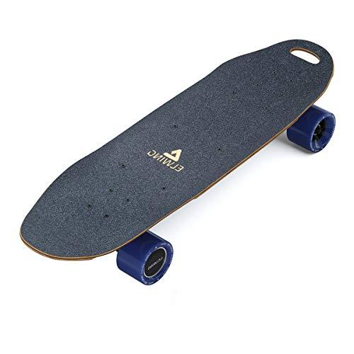 Elwing - E1500 - Nimbus - Skateboard Electrique Compact - 500 Watts - Jusqu'à 100Kg - En bois d'érable -...