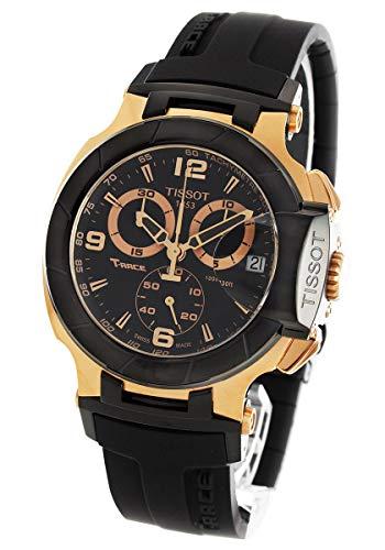 Tissot T048.417.27.057.06 T-Sport oro rosa PVD nero cinturino in gomma...
