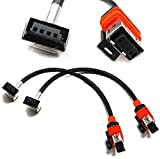 iJDMTOY (2) D1S D1R Xenon Light Bulbs Replacement Power Cords Cables Compatible With OEM D1 Xenon Ballast Units