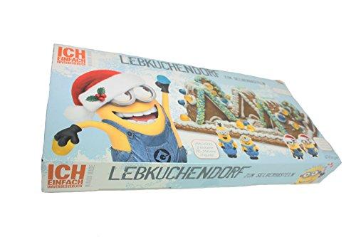 Minion Lebkuchenhaus Lebkuchen Bastelsatz Bausatz mit zwei Minions 2D Figuren