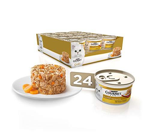 Purina Gourmet Gold Tartalette comida para gatos con Pollo y Zanahoria 24 x 85 g ⭐