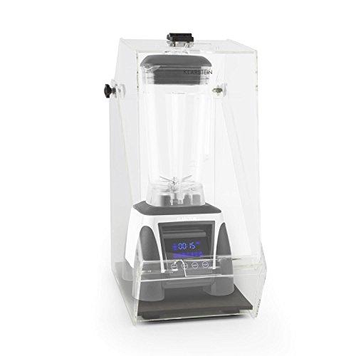 KLARSTEIN Herakles 8G - Set mixeur Blender sur Pied, Robot mixeur à Soupe, jus, Smoothie, purée + Protection Anti-Bruit (1800 Watt, Carafe 2 L sans BPA, régulateur de Vitesse) - Blanc