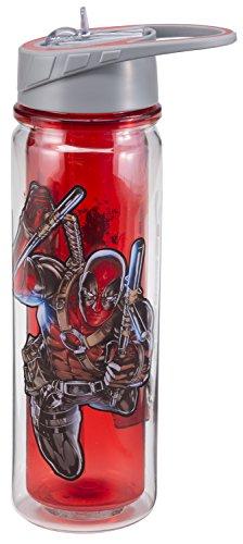 Vandor  Marvel Deadpool 18 Oz. Tritan Water Bottle 26175