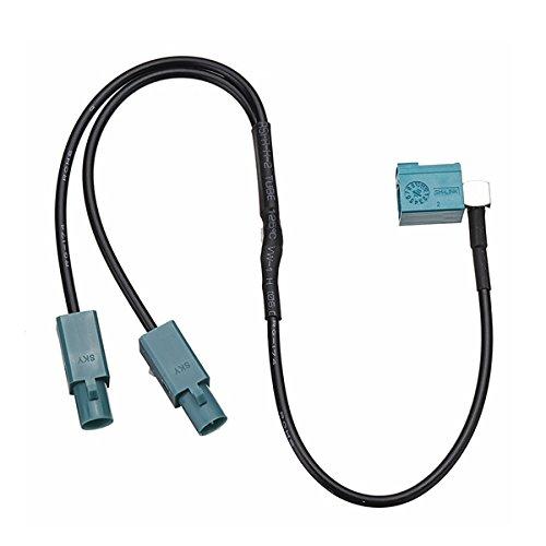 YONGYAO Coche Radio Antena Adaptador de Cable de Audio Fakra Hembra a Doble Macho para VW/Audi