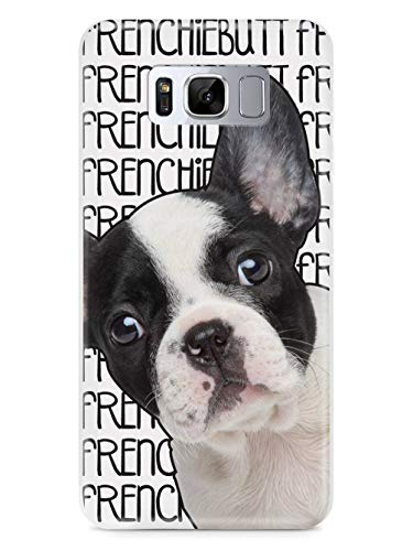 Inspired Cases - 3D Textured Galaxy S8 Case - Rubber Bumper Cover - Protective Phone Case for Samsung Galaxy S8 - Frenchiebutt - French Bulldog