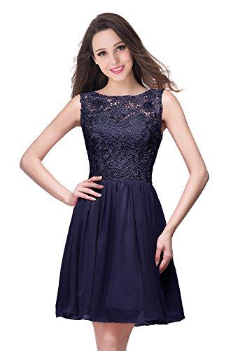 Misshow Damen Elegant Sommerkleid Ohne Arm Spitzenkleid Cocktailkleider Brautjungfernkleid...