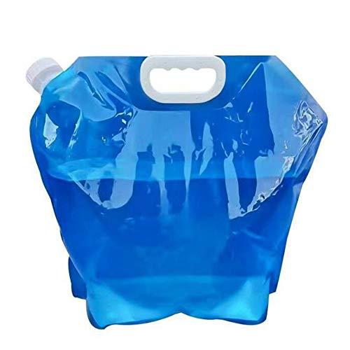 NJXM Réservoir d'eau Flexible réservoir d'eau Pliable 5/10 litres sans BPA avec cavité de Couvercle étanche pour Le Festival Camp Road,10L