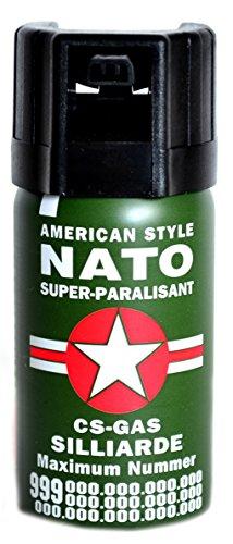RSonic Pfefferspray 40 ml KO-Spray Reizgas CS Gas Verteidigungsspray NATO Pepper Spray Tierabwehrspray