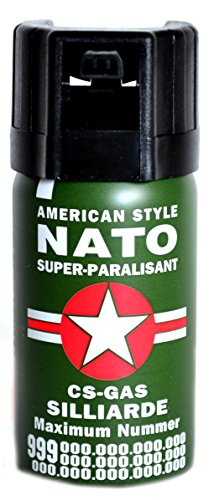 Pfefferspray a 40 ml KO-Spray Reizgas CS Gas Verteidigungsspray NATO Pepper Spray Tierabwehrspray (4)
