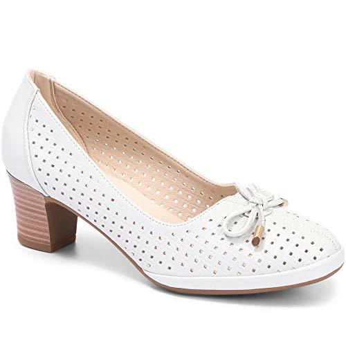 Pavers Mujer Zapatos De Salón De Tacón Blanco Metalizado 39 EU