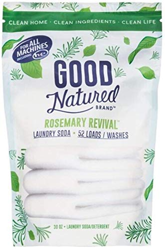 Good Natured Brand Laundry Soda, Rosemary Revival - 30oz (52 Loads) - All-Natural and Eco-Friendly Detergent, Compatible with Normal and High Efficiency Washers