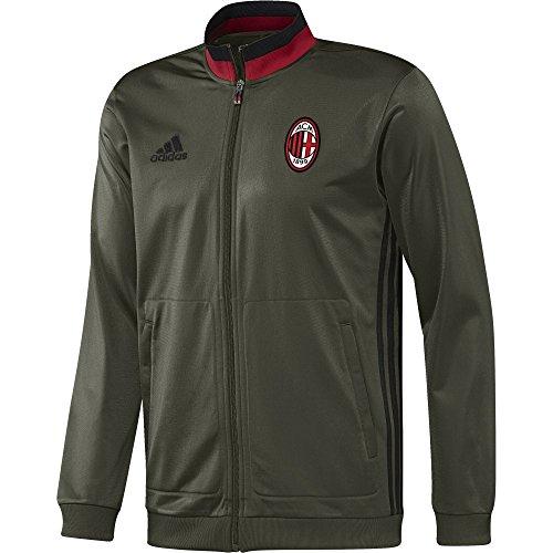 Adidas Acm Pes Suit Ac Milan Tuta Da Ginnastica Uomo - Verde (Verde/Nero/Rosso ) - XS