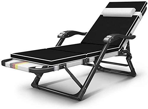 Recliner Garden Chair for Home - Sedia pieghevole per balcone, pausa pranzo per adulti, comoda sedia a sdraio da spiaggia, carico 200 kg