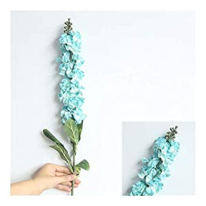 YYJHT Decorative Artificial Flowers Artificial Delphinium Grass Silk Small Fresh Violet Flower Home Party Decor Floral Wedding Decoration Flower Bouquet
