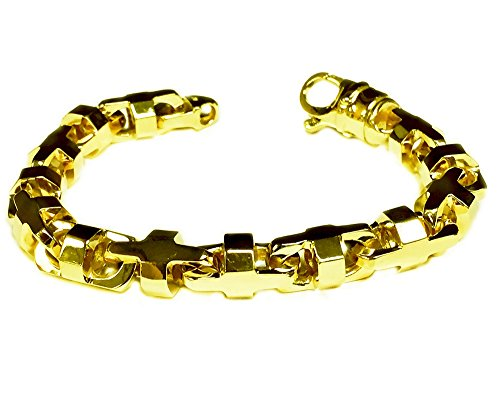 14k Solid Yellow Gold Anchor Mariner Link Chain Bracelet 10.5 MM 80 grams 8.5