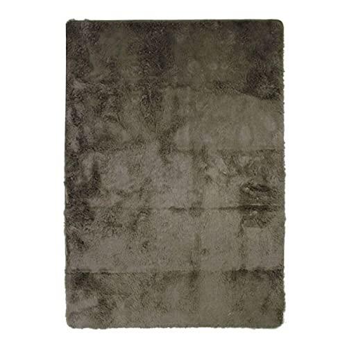 Tapis à Poils Longs Extra-Doux, 120cm x 170cm, Taupe