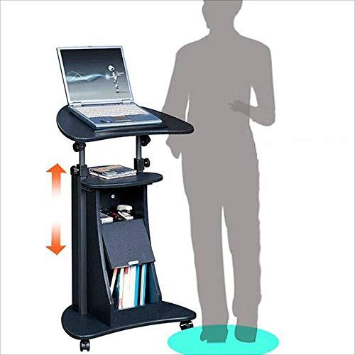 YDHZ Bürotisch, Mobiler Schreibtisch Höhenverstellbarer Laptop-Tisch Haushaltslifting-Tisch...