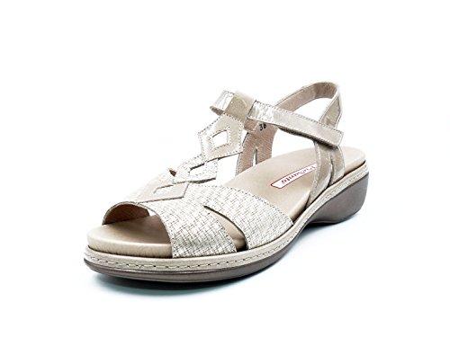 PieSanto 180821-123 dames sandalen met uitneembare binnenzool, leer, nertskleuren