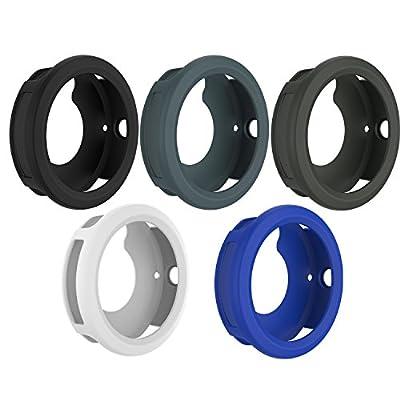 RunTech Compatible for Garmin Vivoactive 3 Watch Protective Case, Soft Silicone Case Cover Protector Sleeve for Vivoactive 3 Band Cover