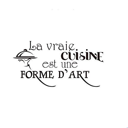 Francés cocina est une forma dart art vinilo pegatinas de pared mural arte de la cocina azulejo decoración para el hogar-Los 55x108cm