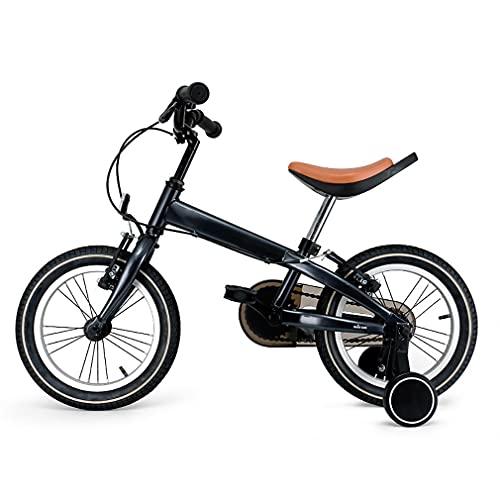 14 Pulgadas Bici Infantiles Bicicleta NiñOs con Ruedas Auxiliares ElevacióN Trasera Basculante CojíN Suave EPA Frenos Dobles Radios Starburst Adecuado para NiñOs Y NiñAs 4 A 6 AñOs
